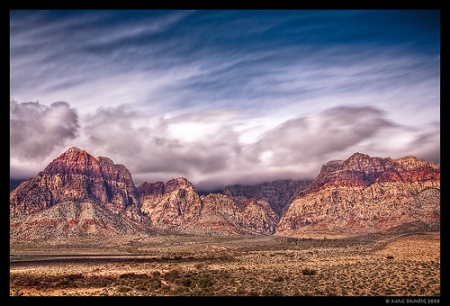 breezing by red rock